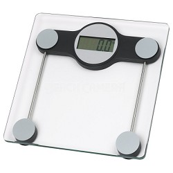 "Hi-Tempered Glass Digital Bathroom Scale 3"" LCD Display"