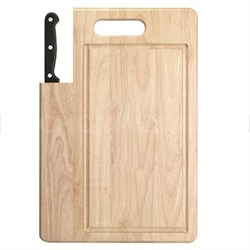 """Stainless 7"""" Santoku Knife with Cutting Board - 04880DS"""