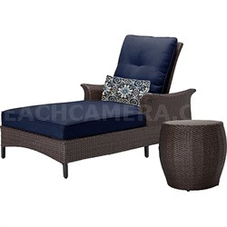 Gramercy 2-Piece Seating Set in Navy Blue - GRAMERCY2PC-NVY