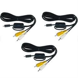 EG-CP14 - Audio Video Cable For COOLPIX Cameras (25624) 3-Pack