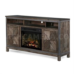 """Wyatt 25"""" Electric Fireplace TV Stand in Barley Brown"""