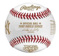 New York Yankees 2009 World Series Champions Commemorative Baseball in Cube