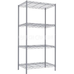 4 Tier Wire Shelving - Grey