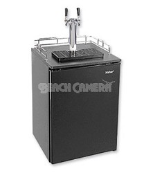 Stainless Steel BrewMaster: Holds 1/2, 1/4 &and Mini Barrel Kegs - Black