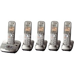 KX-TG4025N DECT 6.0 Expandable Digital Cordless Phone 5 Handsets & Answering Sys