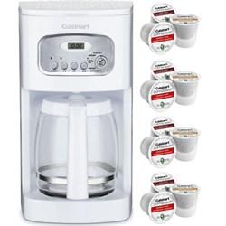 Brew Central 12-Cup Programmable Coffeemaker White + 12 K-Cup Pack