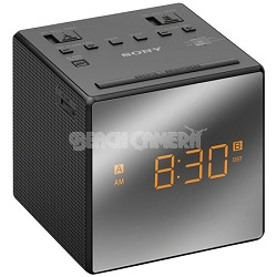 Alarm Clock with FM/AM Radio, Black