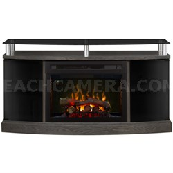 Electric Fireplace - Windham (with logs) Silver Charcoal