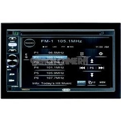 "Double DIN MultiMedia Receiver w/ 6.2"" Touch Screen"