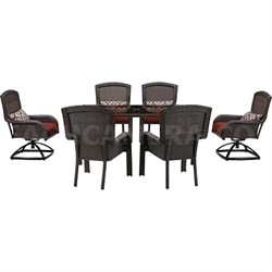Strathmere 7-Piece Dining Set with Two Swivel Rockers - STRADN7PCSW-RED