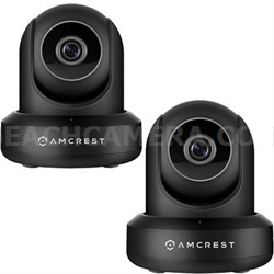 2-Pack ProHD 1080P 1920TVL 30FPS Wireless WiFi IP Camera (Black)IP2M841