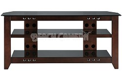"""NFV249 - Natural Three Shelf A/V Stand for TVs up to 52"""" (Mocha Finish)"""