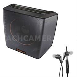 Groove Portable Bluetooth Speaker (Black) - 1062378 w/ Klipsch R6i Headphone