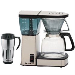 8-Cup Coffee Brewer with Glass Carafe w/ Copco 24-Ounce Thermal Travel Mug