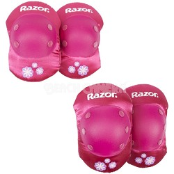 Childrens Sweet pea Ages 5 - 8 Elbow and Knee Pad Set - Pink