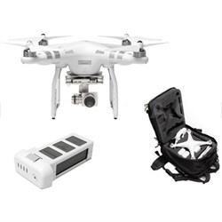 Phantom 3 Advanced Quadcopter Drone Bundle w/ Backpack, Extra Battery, and More