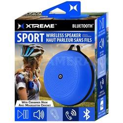 Sport Wireless Bluetooth Speaker with Carabiner Hook - Blue (XBS9-1009-BLU)