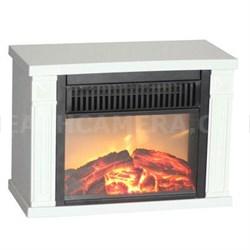 Bookshelf Mini Fireplace in White - EMF162