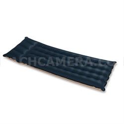 Inflatable Fabric Camping Mattress w/Built-In Pillow - OPEN BOX