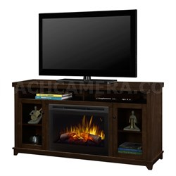 Dupont Electric Fireplace & Media Console- Kingston Brown