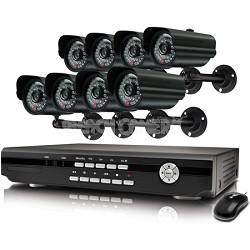 Alpha 8 Channel DVR & 8 Indoor/Outdoor Cameras - OPEN BOX