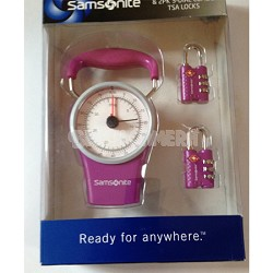 Luggage Scale and Combination Lock Kit - Purple
