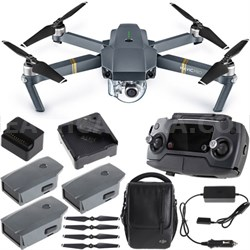 Mavic Pro Quadcopter Drone Combo Pack with 4K Camera  4 Battery Bundle
