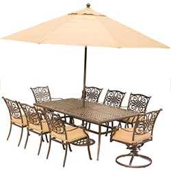 Traditions 9-Piece Dining Set in Tan - TRADDN9PCSW2-SU