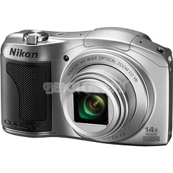 COOLPIX L610 16MP 3.0-inch LCD Silver Digital Camera