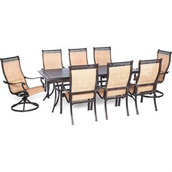 Manor 9-Piece Outdoor Dining Set with Two Swivel Rockers - MANDN9PCSW-2