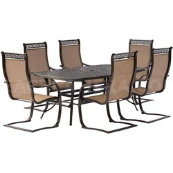 Manor 7-Piece Dining Set with C-Spring Chairs and Dining Table - MANDN7PCSP
