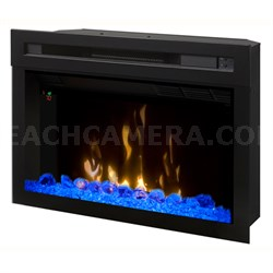 """25"""" Glass Ember Bed Multi-Fire XD Electric Firebox"""