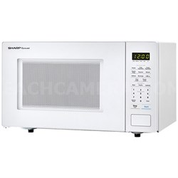 1.1 Cu.Ft. 1000W Carousel Countertop Microwave Oven in White - SMC1131CW