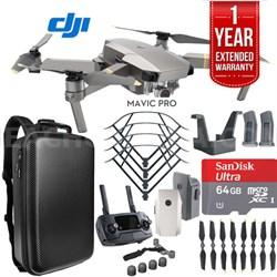 Mavic Pro Platinum Quadcopter Drone Dual Battery 64GB Kit