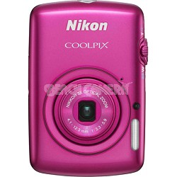 COOLPIX S01 Touch Screen Digital Camera - Pink Factory Refurbished