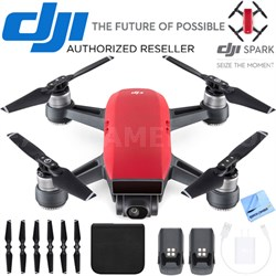 CP.PT.000735 SPARK Intelligent Portable Mini Drone Lava Red Battery Bundle