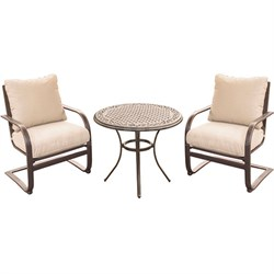 Summer Nights 3PC Dining Set: 2 Aluminum Spring Chrs with 30  Cast Table