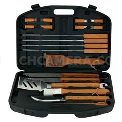 18-Piece Stainless-Steel Barbecue Set with Storage Case - 94001X