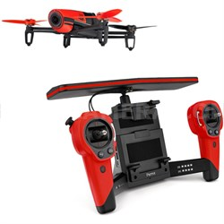 BeBop Drone 14MP Full HD 1080p Fisheye Camera SkyController (Red) - OPEN BOX