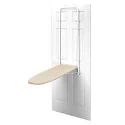 Over the Door Ironing Board in Cream and Navy Striped - 4785020