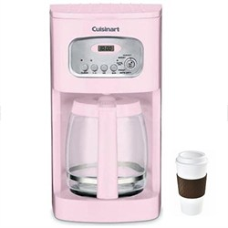 DCC-1100PK 12-Cup Programmable Coffeemaker (Pink) Copco To Go Cup Bundle