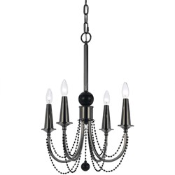 Shelby Metal Four Candle Base Chandelier - 8447-4H