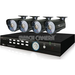 4 Channel Smart DVR with 1TB Hard Drive with 4 x 600 TVL Cameras