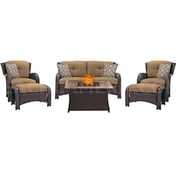 Strathmere 6-Piece Lounge Set in Country Cork - STRATH6PCFP-TAN-TN