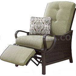Ventura Luxury Recliner with Pillow Accessory All-weather Resin Weave