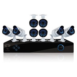 16 Channel Security System 2TB HDD, 8 Hi-Res 900 TVL Cameras, Free Night Owl App