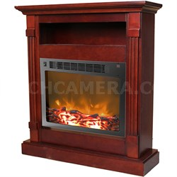 33.9 x10.4 x37  Sienna Fireplace Mantel with Insert