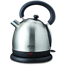 8 Cup Professional Stainless Steel Electric Water Kettle, 1.8 L, Silver