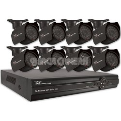 16-Channel Security System with 500GB HD and 8 Indoor/Outdoor Cameras & Pro App