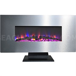 42  Wall Mount and Free Standing Electric Fireplace  w/ crystals
